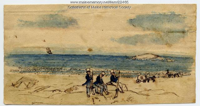 Militia Soldiers at Prouts Neck, ca. 1850