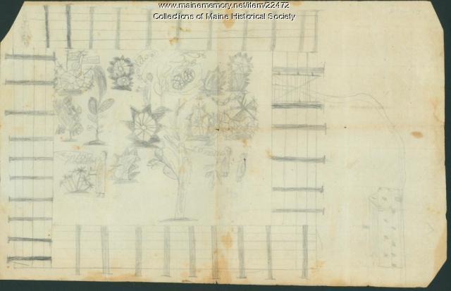 Garden sketch, Portland, ca. 1818