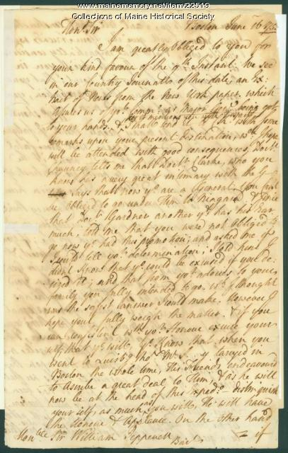 Nathaniel Sparhawk to William Pepperrell on war, 1755