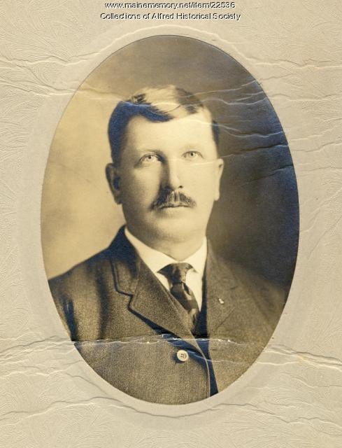 Deputy Sheriff Thomas Rankin of Alfred, ca. 1900