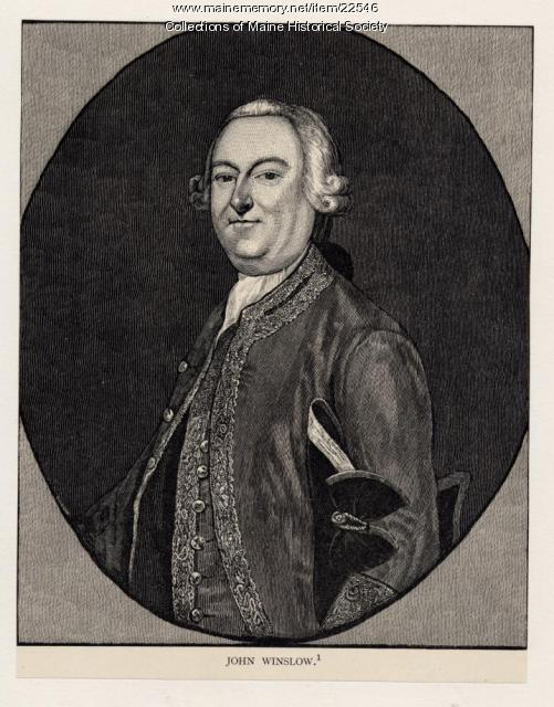 John Winslow, Boston, ca. 1765