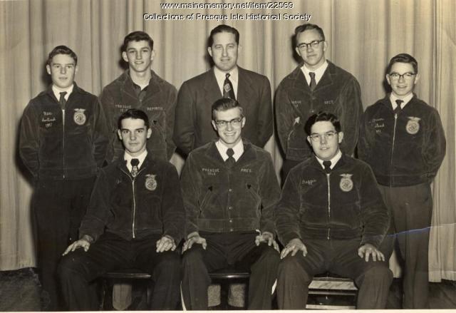 FFA Officers, Presque Isle, 1952