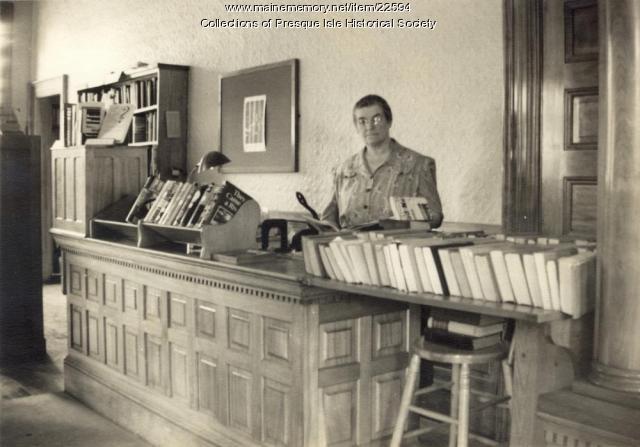 Beulah Akeley, Librarian, ca. 1940