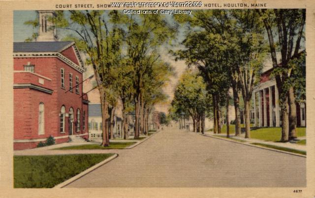Court Street, Houlton, ca. 1935