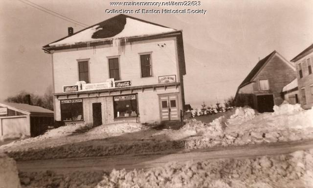Grange Hall, Graves Meat Market, Easton, ca. 1950