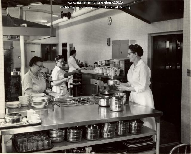 Presque Isle Hospital Kitchen, Presque Isle, ca. 1952