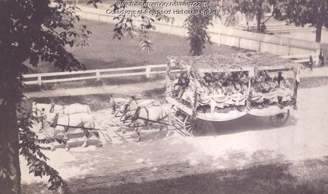 Parade and Float, Brunswick, 1889