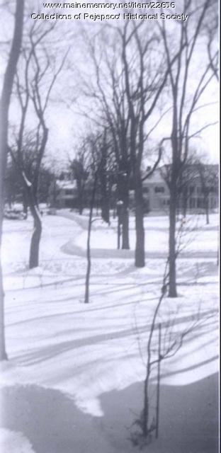 Snow storm, Brunswick, 1952
