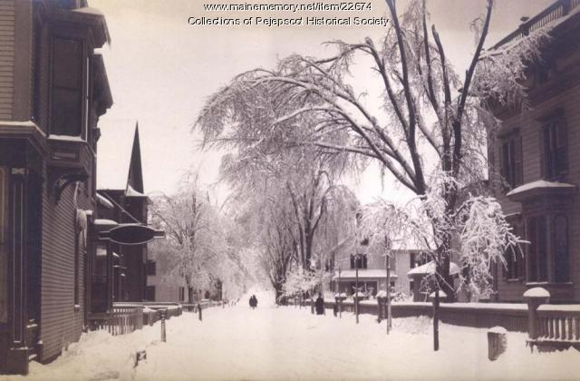 Snow storm, Brunswick, 1887