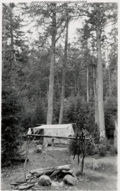 Camp on Allagash Lake, 1909