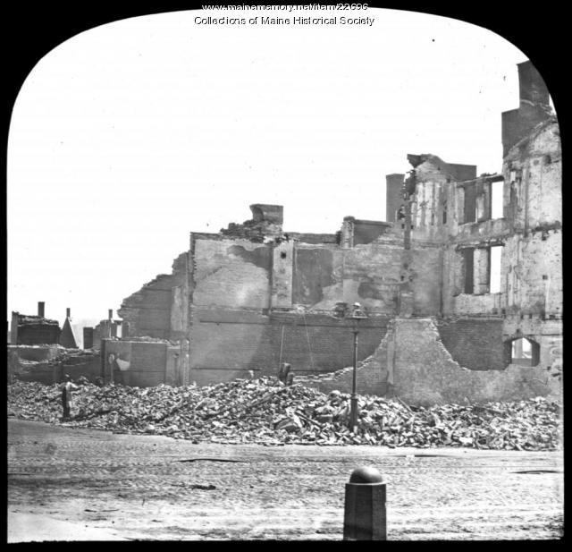 Exchange Street, Portland, 1866