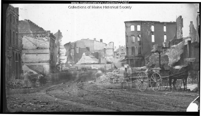 Middle Street, Portland, after Great Fire, 1866