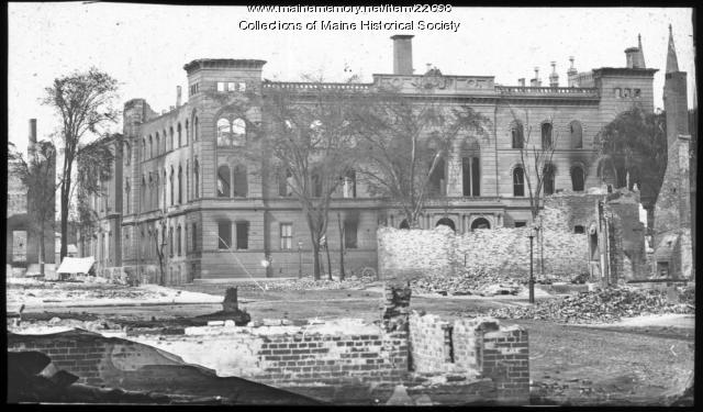 Portland City Hall after Great Fire, 1866