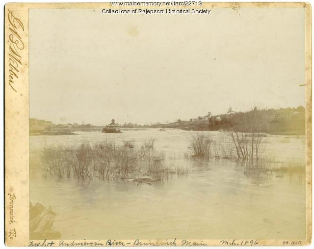 Great Freshet, Androscoggin River, 1896