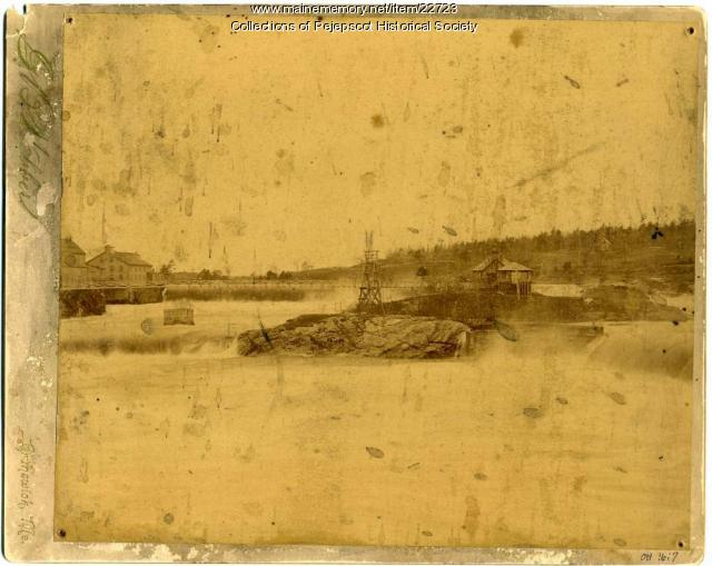 Electric Power Station, Androscoggin River, ca. 1880