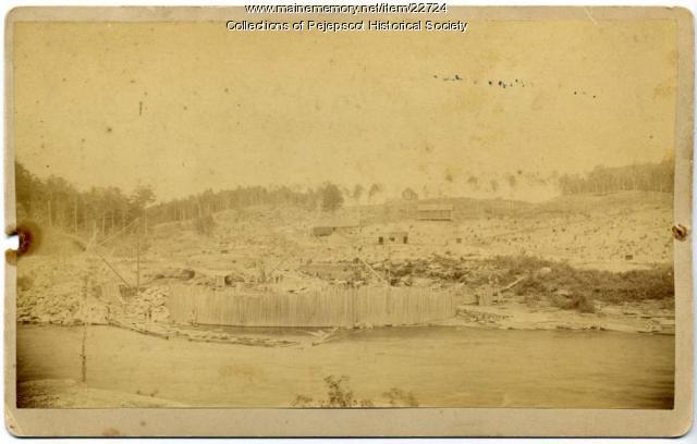 Logging, Pejepscot, ca. 1880