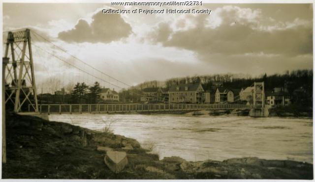 Swing Bridge, Brunswick-Topsham, ca. 1920