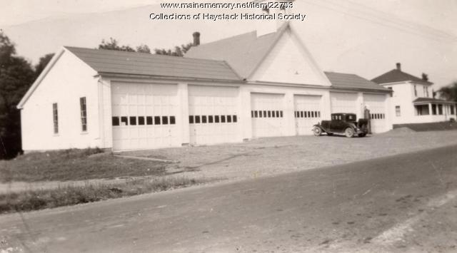 Mapleton town garage, ca. 1930