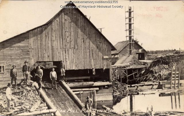 Lumber mill, Mapleton, 1911