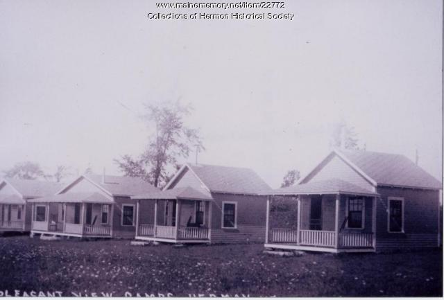 Pleasant View Cabins, Hermon, ca. 1940