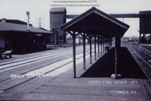 Union Station, Hermon, ca. 1914