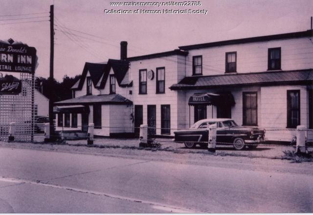 Hotel Turn Inn, Hermon, ca. 1955