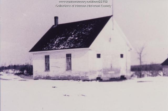 Hermon School Number 9, Hermon, ca. 1905