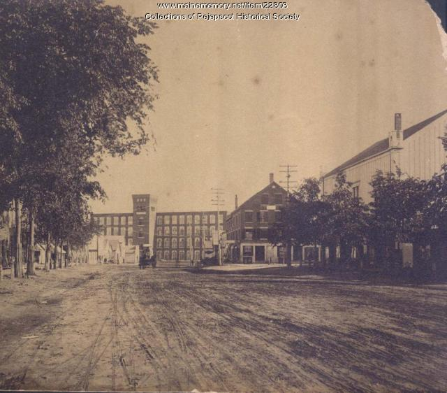 Brunswick Maine Street, 1880s
