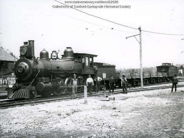 A Train at Springvale Depot, Sanford, ca. 1910