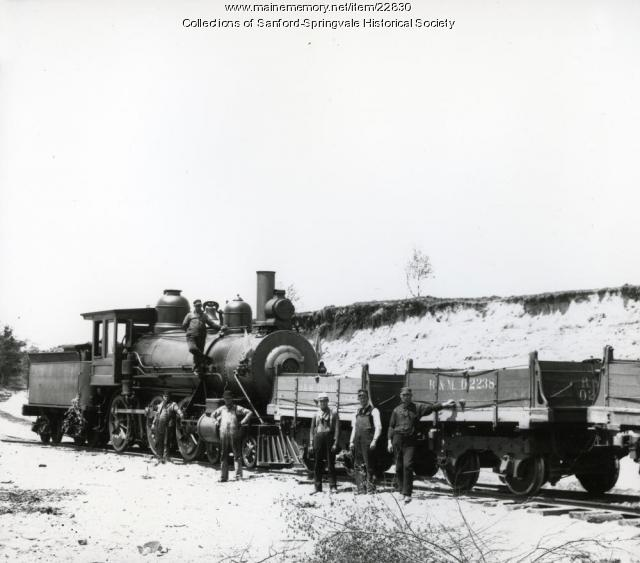 Train Loading Ballast Near Springvale Depot, ca. 1905
