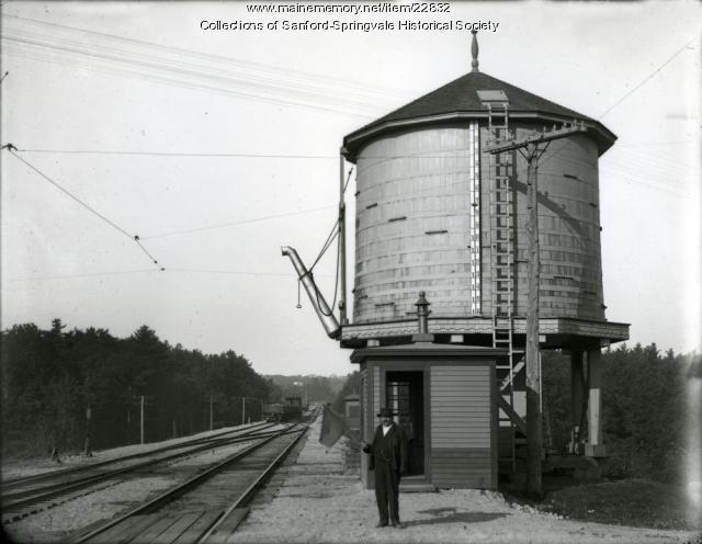Arthur R. Gould, Flagman at Springvale Depot, ca. 1910