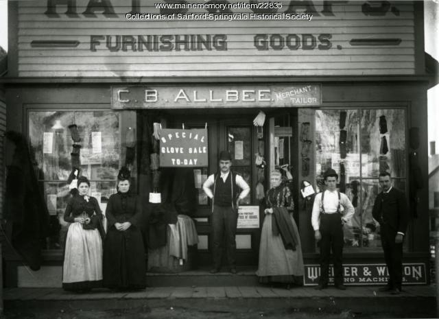 Charles B. Allbee Clothing Store, Sanford, ca. 1890