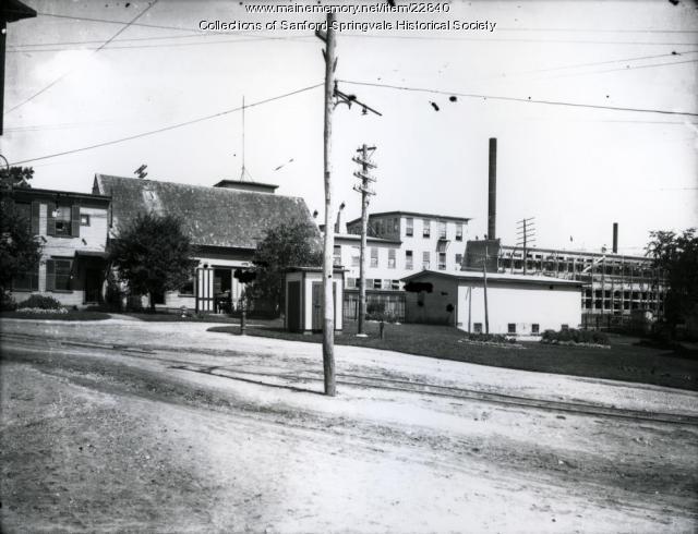 Sanford Mills & Firehouse, ca. 1910