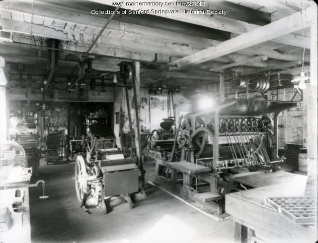 Sanford Weekly Ledger Print Shop, ca. 1890s