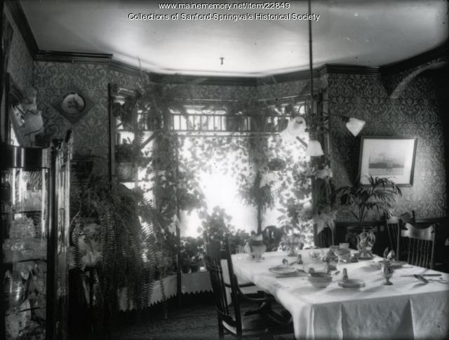 Edward E. Hussey home, School Street, Sanford, ca. 1900