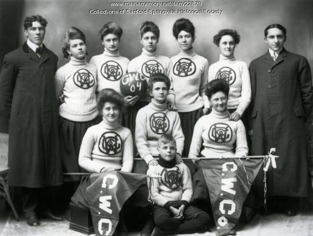 Goodall Worsted Co. Girls' Basketball Team, 1904