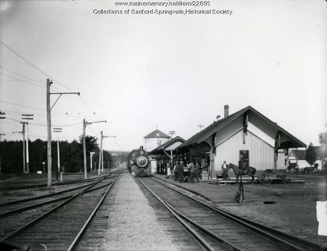 Sanford-Springvale Railroad Station, before 1908
