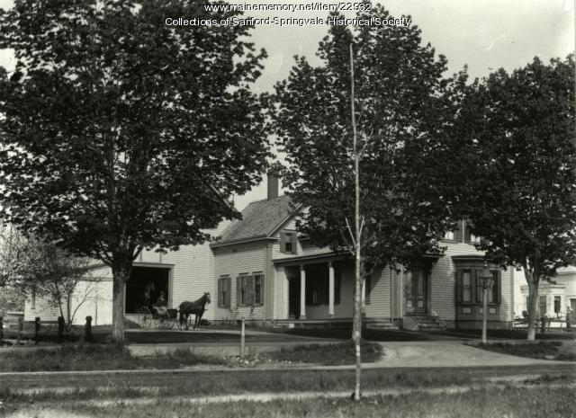 Home of Dr. Fred Bragdon, Springvale, ca. 1900
