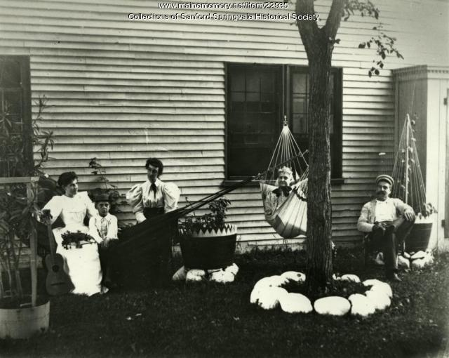 SEE NOTE A Sanford Family Reclining in Hammocks, ca. 1900