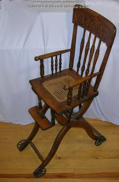 Child's highchair, Mapleton, ca. 1920