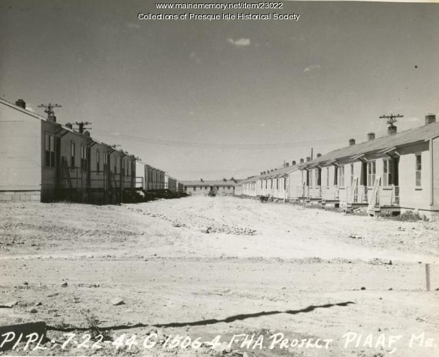 Fairview Acres Housing Project, Presque Isle, 1944