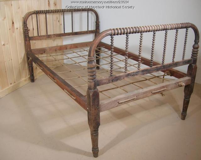 Rope bed, Mapleton, ca. 1900