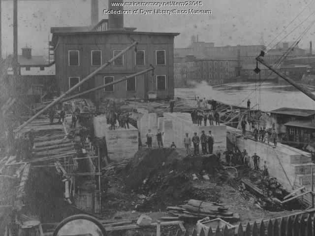 Saco-Pettee Boiler House Construction, Biddeford, 1911