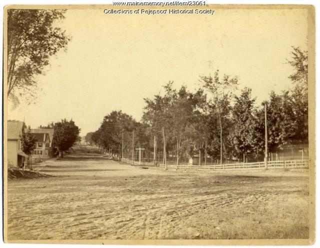 Maine Street, Brunswick, ca. 1860