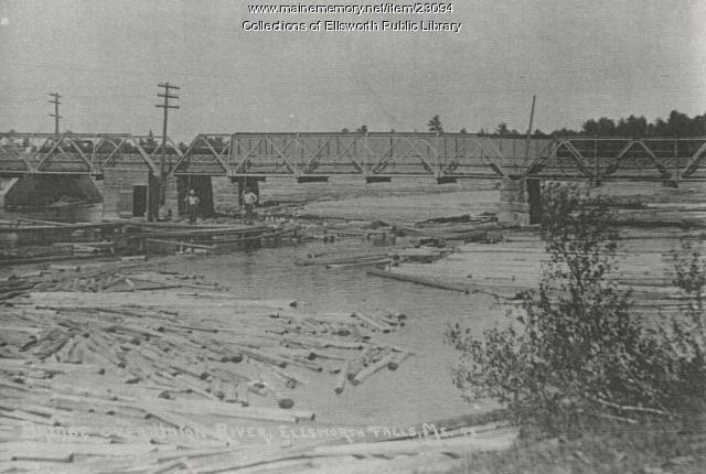 Bangor Road Bridge, Ellsworth, ca. 1920