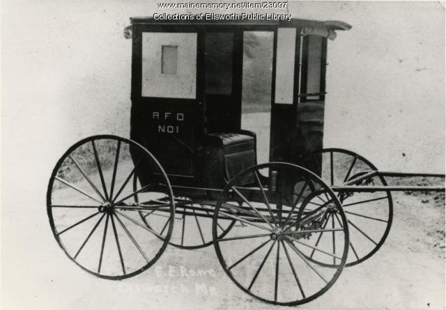 Elmer E. Rowe carriage, ca. 1900