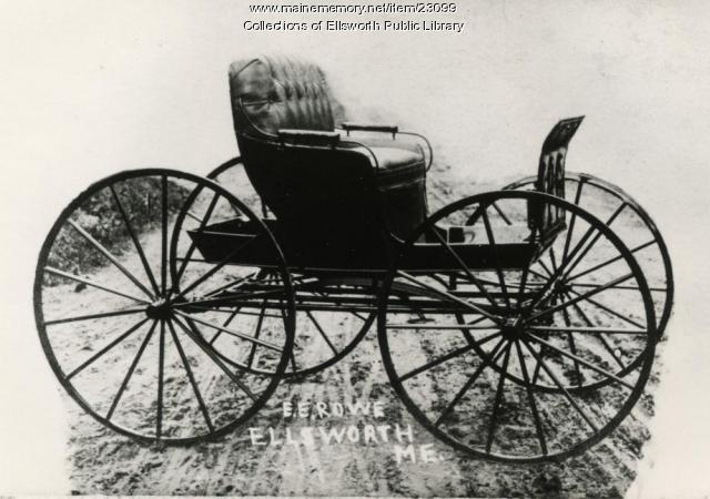 Elmer E. Rowe carriage, Ellsworth, ca. 1900