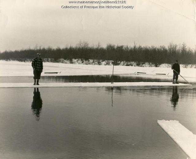 Moving ice, Presque Isle Stream, 1963