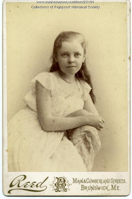 Sue Winchell Burnett, Brunswick, ca. 1895
