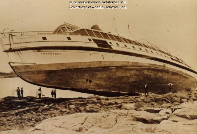 Steamer Norumbega Aground, ca. 1920